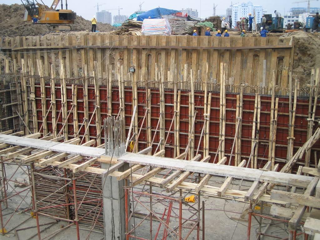 Hình ảnh 5: Biện pháp thi công phần móng nhà cao tầng trong xây dựng